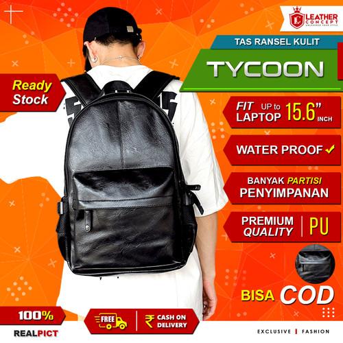 Foto Produk Tas Ransel Kulit Pria Tas Pria (TYCOON) - Hitam dari Leather Concept