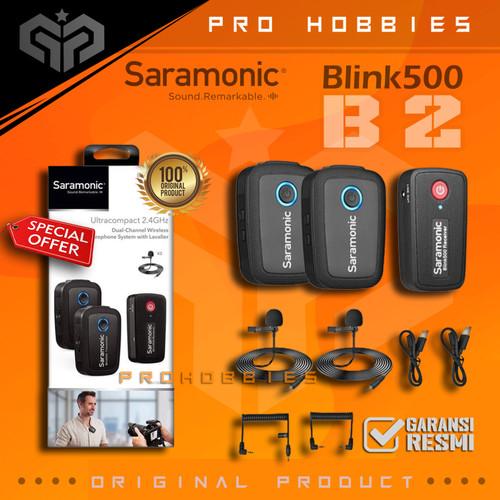 Foto Produk Saramonic Blink 500 B2-Mount Wireless Omni Lavalier Microphone System dari Pro Hobbies