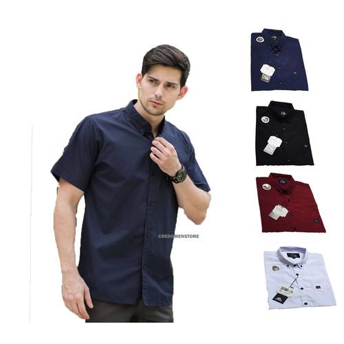 Foto Produk Kemeja Pria Lengan Pendek Polos / Baju Kasual Casual Cowo Cowok dari Simpleclothes.id