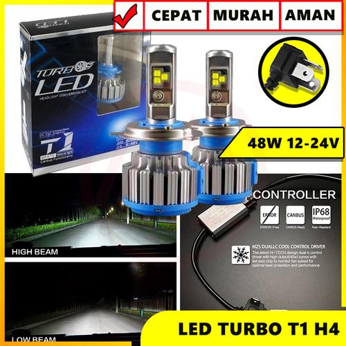 Foto Produk TURBO LED T1 H4 UNIVERSAL ISI 2PC HEADLIGHT TURBO T1 dari Modifikasi Market