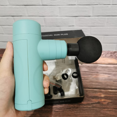 Foto Produk ❤️100% original❤️alat pijat mini gun massanger gun alat terapi - light blue dari Koreanholicshop