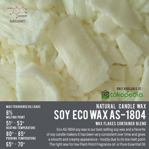 Foto Produk Soy Wax Eco AS-1804 / Wax Flakes for Container / Single Wick dari AuraShanti Alchemy