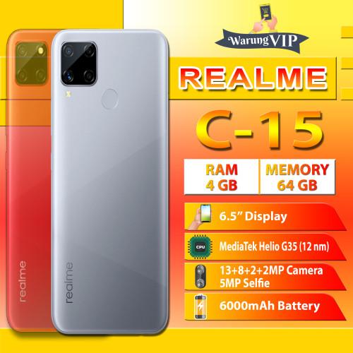 Foto Produk Realme C15 4/64 RAM 4GB ROM 64GB Garansi Realme Indonesia - Perak dari Warung VIP