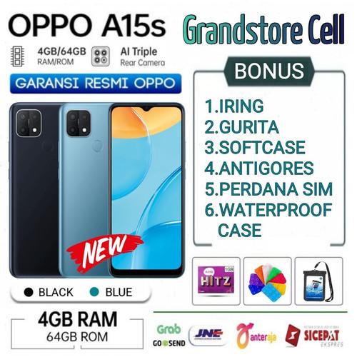 Foto Produk OPPO A15S RAM 4/64 GB GARANSI RESMI OPPO INDONESIA - Demo Tanpa Dus dari Grandstore cell