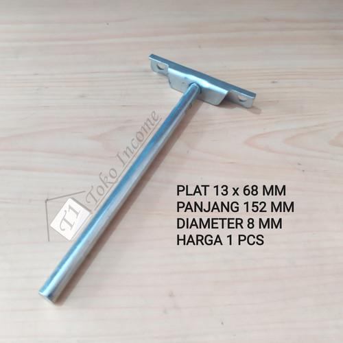Foto Produk Bracket Ambalan Braket Besi Melayang / Floating Shelf Mounting dari Toko Income