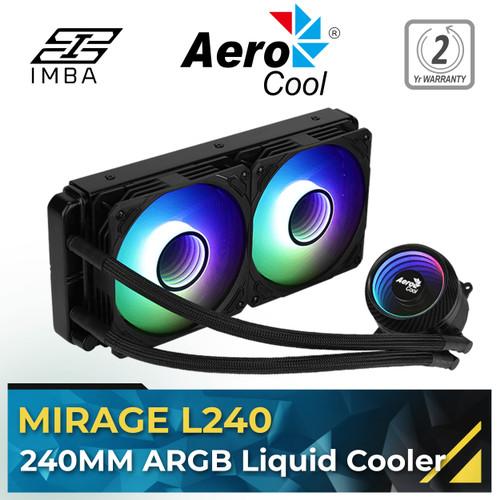 Foto Produk Aerocool MIRAGE L240 ARGB 240mm Liquid Cooler [AiO] - Hitam dari IMBA PC
