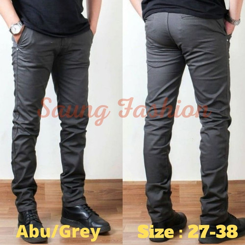 Foto Produk celana chino panjang / celana cino pria / celana chinos murah - Abu/grey, 30 dari saungfashiond2m