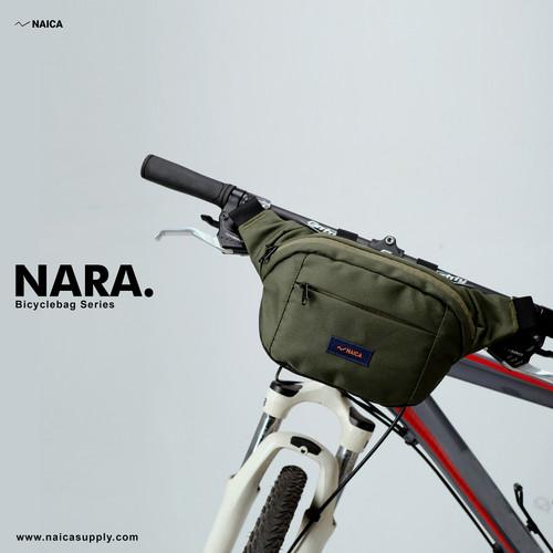 Foto Produk NAICA - Tas Sepeda - Nara - Hijau - tas sepeda lipat handlebars dahon dari naicasupplyco