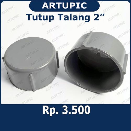 """Foto Produk Tutup Talang 2"""" inch   Tutup Pipa 2"""" inch   Dop Pipa Air 2 Inch = dari ArtupicPeralatanPeternak"""