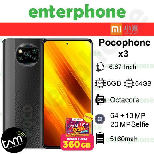 Foto Produk XIaomi Poco X3 NFC 6/64 GB Garansi Resmi - Abu-abu dari enterphone2