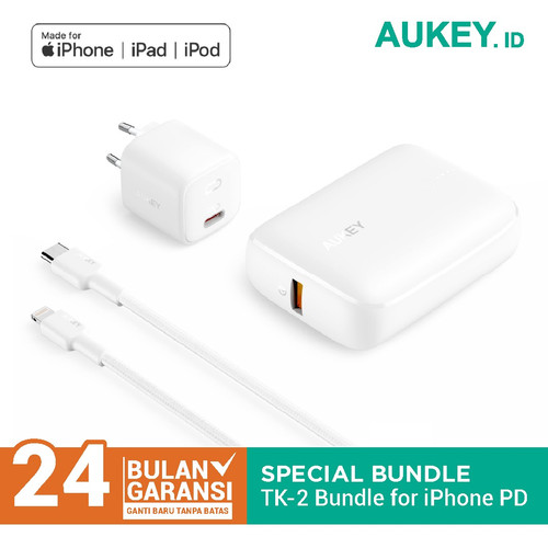 Foto Produk Aukey Special Bundling TK-2 For iPhone PD & QC Support - 500727 dari AUKEY