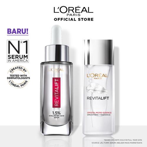 Foto Produk L'Oreal Paris Revitalift 1.5% Hyaluronic Acid Serum + Crystal Essence dari L'oreal Paris