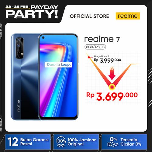 Foto Produk realme 7 8/128GB [Sony 64MP Quad Camera, Helio G95, NFC] - Biru dari realme Official Store
