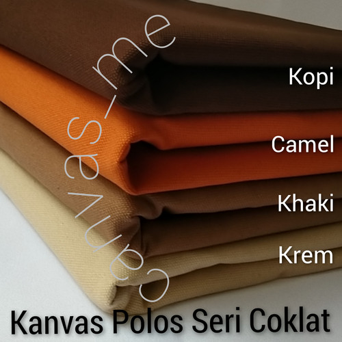 Foto Produk Kain Kanvas Polos Seri Coklat - Camel dari canvas_me