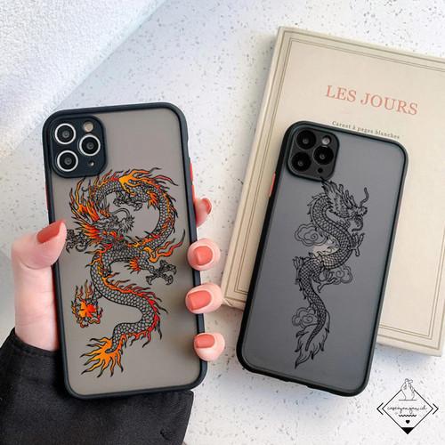 Foto Produk Dragon Case Hybrid Iphone 6 6s 7 8 Plus SE 2020 X XS 11 PRO MAX Casing - BLACK, 6 6S dari Caseayangan ID