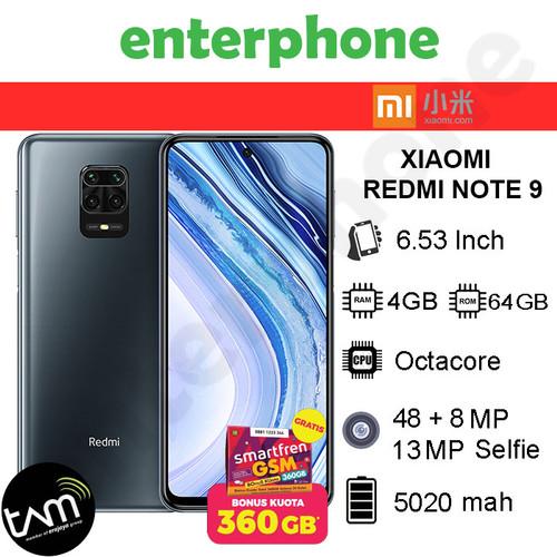 Foto Produk Xiaomi Redmi Note 9 4/64 RAM 4GB ROM 64GB GARANSI RESMI - Abu-abu dari enterphone2