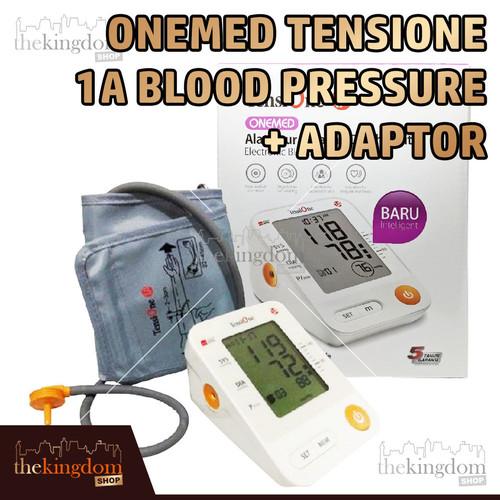 Foto Produk OneMed TensiOne 1A w/ Voice Adaptor Tensimeter Tensi One Tekanan Darah - TensiOne, Packing Plastik dari The Kingdom Shop