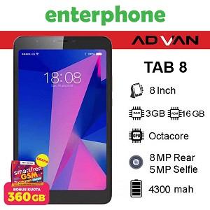 Foto Produk Advan Tab 8 3/16Gb Tab8 Garansi Resmi - Hitam dari enterphone2