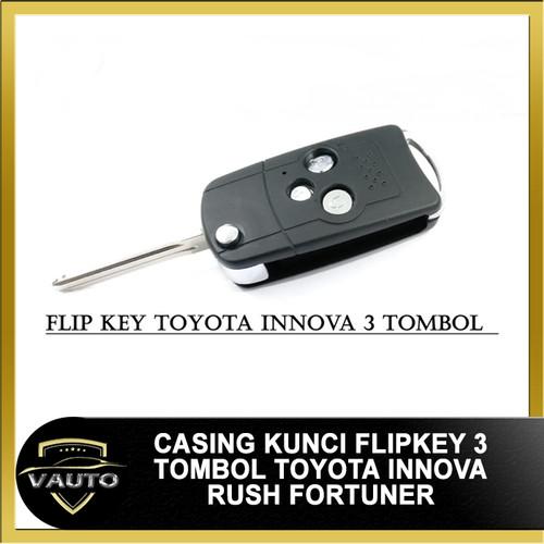 Foto Produk Kunci Mobil Toyota Flip Key Toyota 3 tombol Innova Rush Fortuner dari vauto