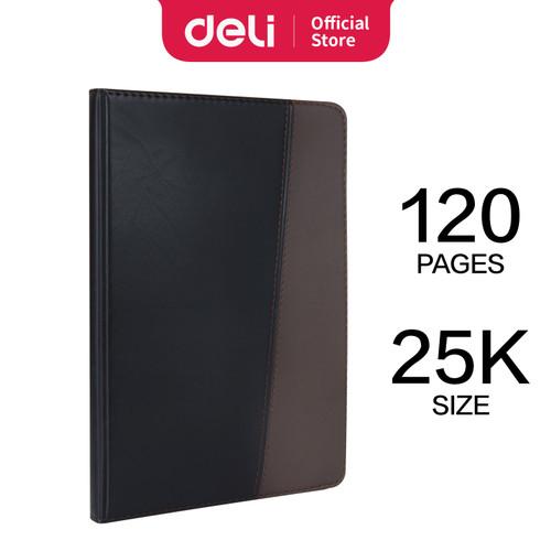 Foto Produk Deli Business Notebook Leather Cover 25K Buku Catatan Bahan Kulit 7911 - 25K 120 LEMBAR dari Deli Stationery