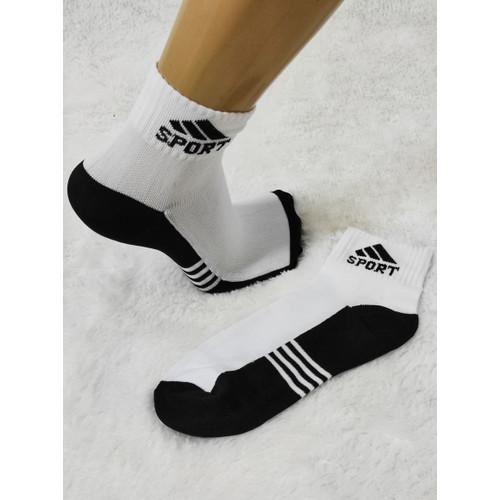 Foto Produk Kaos kaki Sport Pendek Sedikit diatas Mata Kaki - Hitam Putih dari FarafaStore