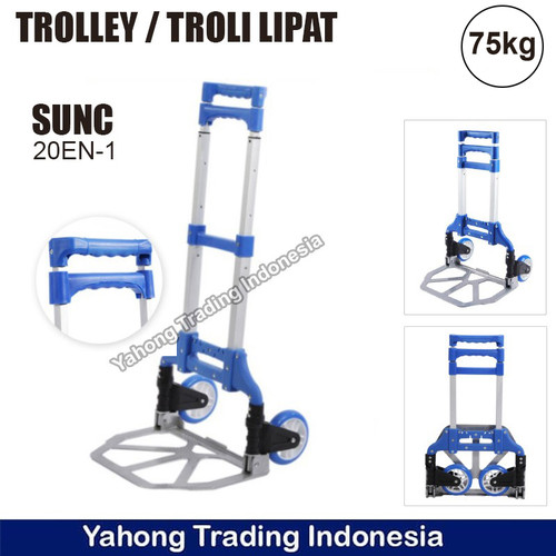 Foto Produk Troli Lipat Serbaguna Troli Galon Gas Trolley Lipat Mini Aluminium - Biru dari Yahong Trading Indonesia