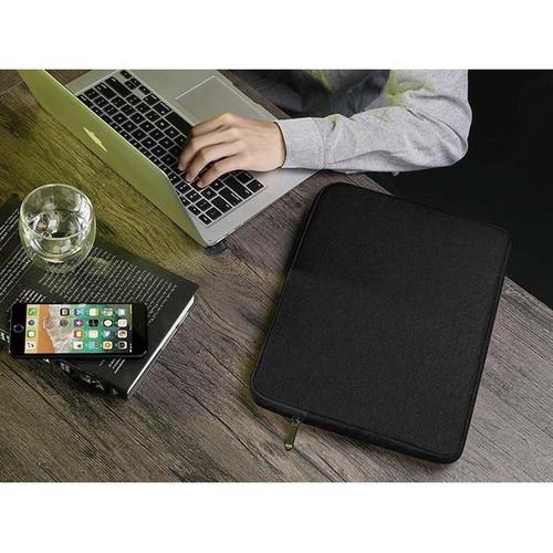 Foto Produk Tas Laptop Softcase Waterproof Nylon High Quality 14 inch - grey - Hitam dari ipeka.netmedia