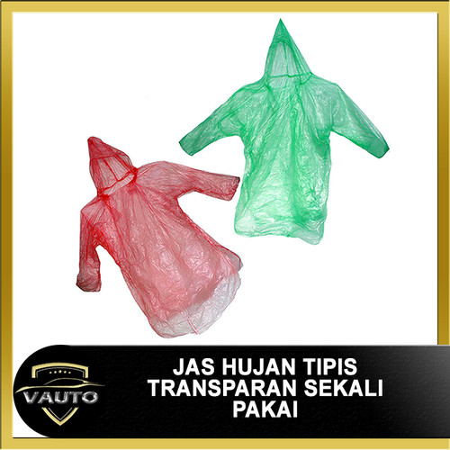 Foto Produk Jas Hujan Plastik Sekali Pakai Transparan Tipis dari vauto