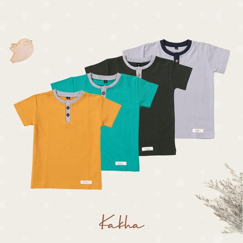 Foto Produk Kakha Series - Atasan Henley (Baju Bayi) - Atasan Army, S dari kakhaofficial