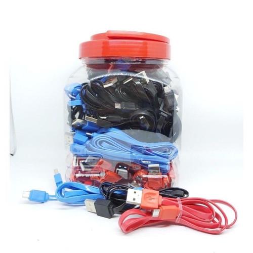 Foto Produk Kd Kabel Data Micro Usb Warna Warni Ketengan Kualitas Bagus - Warna Gepeng dari kita acc1405