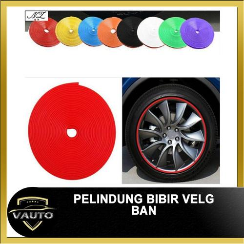 Foto Produk Rim Protector Wheel Protector Karet pelindung Velg 8 Meter/ 4 velg - Biru dari vauto