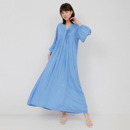 Foto Produk NONA Boho Dress Maxi Azure Blue dari nona_ind