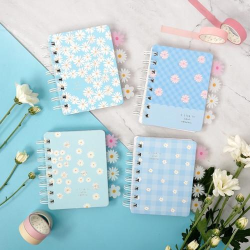 Foto Produk Daisy in Your Memory Spiral Ruled Notebook Mini dari Pinkabulous