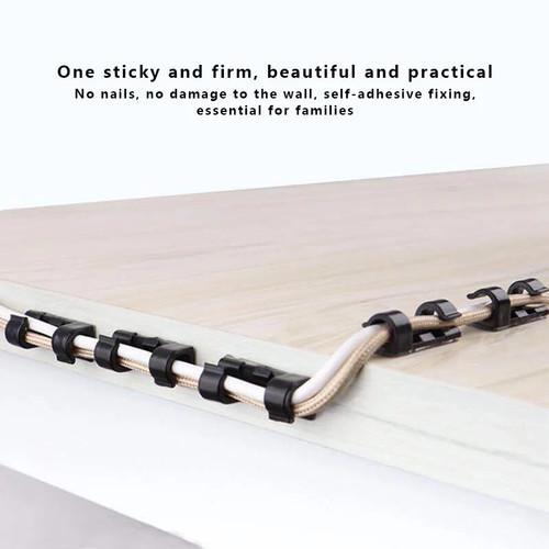 Foto Produk kabel klip tempel penjepit protektor pengikat - Hitam dari siliacase