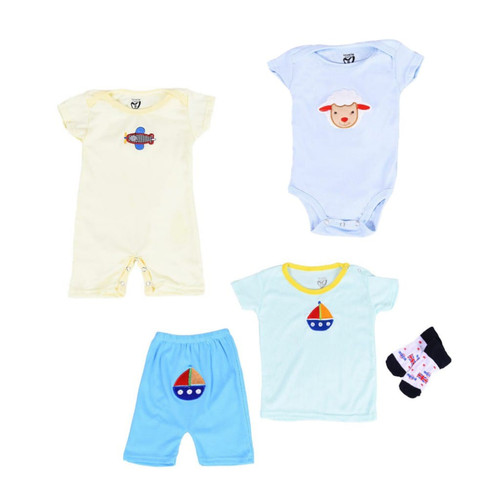 Foto Produk Gift Pack 4 in 1 : Jumper Short Sleeves, Romper, Pajamas, & Socks - Girl, 6-9 Bulan dari Lovelle Cart's