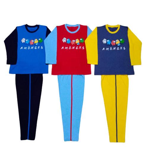 Foto Produk Setelan Baju Tidur Piyama Celana Panjang Anak Laki Usia 11 12 13 Tahun - Among Us, 11-12th dari jupajakubismillah