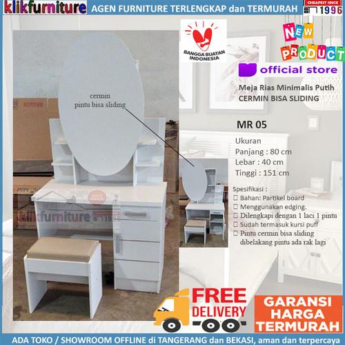 Foto Produk PROMO Meja Rias Putih Minimalis Sliding MR 05 dari klikfurniture