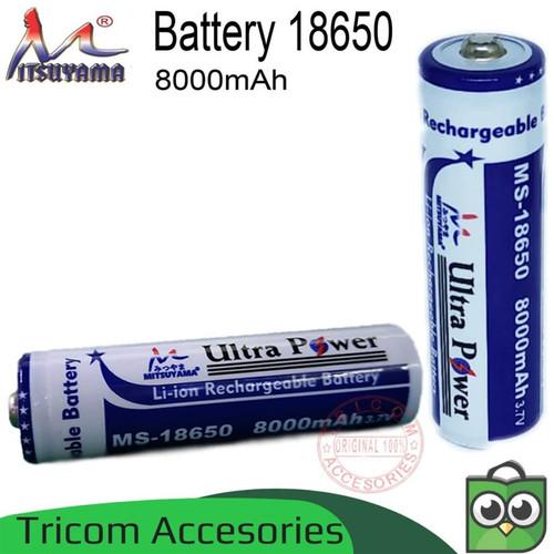 Foto Produk Baterai 18650 8000mAh 3.7V Mitsuyama Battery Li-ion Rechargeable dari Tricom accesories