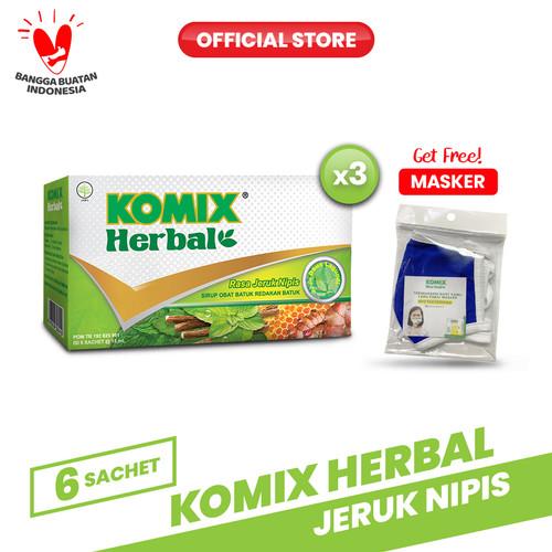Foto Produk Komix Herbal Jeruk Nipis 3 Pack (18 Sachet) dari Bintang Toedjoe Official