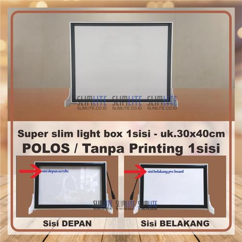 Foto Produk Super Slim Polos 1sisi 30x40cm - LED neon box tipis meja kasir dari SLIMLITE