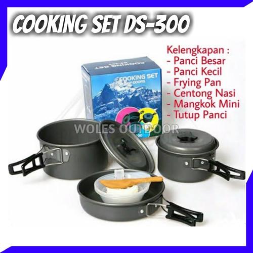 Foto Produk Cooking Set / Nesting DS 300 / Perlengkapan Masak Outdoor / 2-3 Person dari Woles Outdoor Store