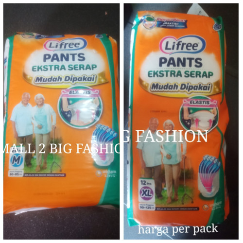 Foto Produk lifree popok celana dewasa ekstra serap M20 L16 XL12 / lifree M L XL - Size M20 dari Small 2 Big Fashion