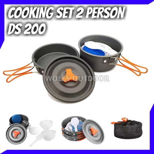 Foto Produk Cooking Set / Nesting DS 200 / Ultralight / 1-2 person dari Woles Outdoor Store