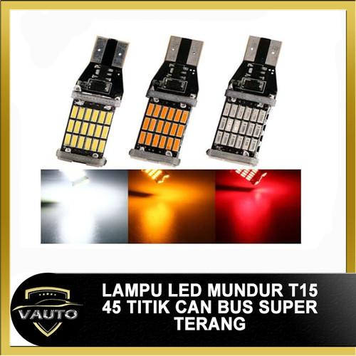 Foto Produk Lampu Led Mundur T10 T15 45 LED Canbus Super Terang - Merah dari vauto