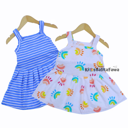 Foto Produk Dress Meymey uk 1-2 Tahun / Dres Baju Anak Perempuan Kaos Harian Murah - Random Warna dari Kios Balita Fawa