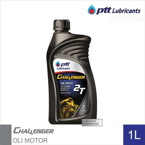Foto Produk PTT Lubricants Challenger 2T Oli Samping JASO FD ISO EGD 1L semi-synth dari Motochiefdotnet