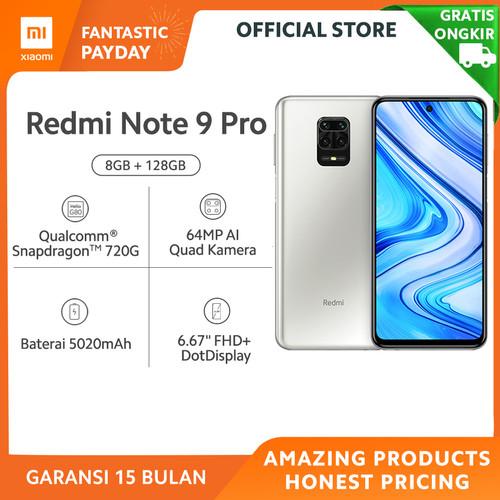Foto Produk Xiaomi Official Redmi Note 9 Pro 8/128 GB Garansi Resmi Mi Smartphone - Glacier White dari Xiaomi Official Store