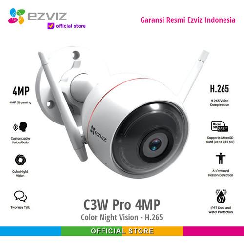 Foto Produk Ezviz C3W Pro 4MP Outdoor Color Night Vision Smart IP Camera dari Ezviz Official Store
