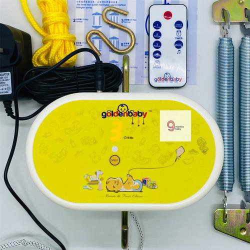 Foto Produk MKS - Golden Baby Remote + Timer Ayunan Bayi Listrik/Elektrik Ori dari 9 Months