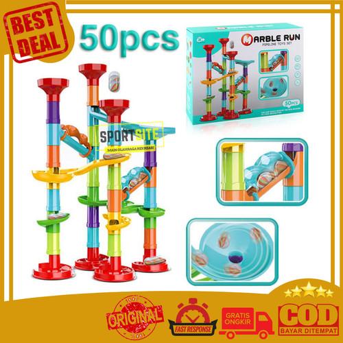 Foto Produk Marble Run Pipe Track Pipa Seluncur Kelereng Gundu Mainan Edukasi Anak - 50 PCS dari Sportsite